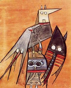 Awakening, Wifredo Lam, 1970. Wifredo Óscar de la Concepción Lam y Castilla, better known as Wifredo Lam, was a Cuban artist who sought to portray and revive the enduring Afro-Cuban spirit and culture.