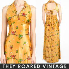 70s vintage maxi dress