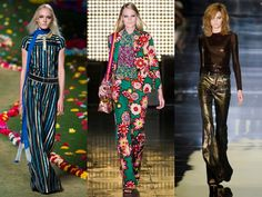 Below L-R: flares at the Tommy Hilfiger, House Of Holland and Tom Ford spring 2015 fashion shows. from Marie Claire.com