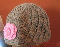 Amazing crocheted spiral and shell women's hat by virtuousyarn