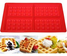 Hot Sale Cake Tools Cupcake Baking Tray Fondant Kitchen Bakeware Silicone Non-Stick 12 Cups Mousse Cake Mold Muffin Pan Donut Maker, Donut Decorations, Waffle Cake, Square Cakes, Baking And Pastry, Cake Mold, Chocolate Cake, Fondant, Waffles