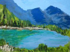 Die Frische dieses Gebirgssees ist geradezu fühlbar - das Werk eines Beginners, das motiviert! #kreativmanufaktur