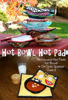 Hot Bowl Hot Pad- Microwavable Bowl-shaped hot pads! Save your fingers!