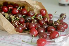 Cherries  Una ciliegia tira l'altra - litterally a cherry leads to another cherry - is an old Italian proverb that means when you start to eat cherries, even only one, you just can't stop!
