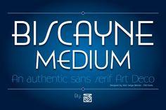 Biscayne Medium. Sans Serif Fonts