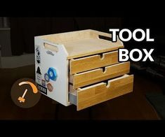 Toolbox From Reclaimed Materials: My hand tools have been all over the place for a while and I had some reclaimed plywood and other parts kind of in the way so I thought I would put it all together in the shape of a toolbox or tool chest. Sand Projects, Wooden Projects, Leather Working Tools, Wood Working, Shop Organization, Organizing, Homemade Tools, Woodworking Jigs, Tool Storage