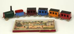 A steam train toy which is about 100 years old © Harris Museum and Art Gallery