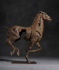 'Cheval IV' Bronze Fine Sculpture by Christophe Charbonnel Figurative bronze horse sculpture created by the french artist, Christophe Charbonnel. This magnificent piece exemplifies the Charbonnel styl