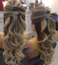 """""""Sugestão de penteado! Super amei e vcs? #universodasnoivas #noiva #noivas #wedding #weddingday #casamento #casamentos #vestido #vestidos #vestidodenoiva…"""""""