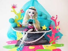 How to make a Lagoona Blue doll bed. Tutorial/ Monster High.