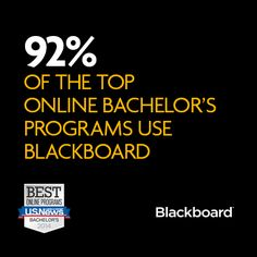 New rankings from @USNewsEducation identify the top 50 online bachelor's programs. 46 use Blackboard solutions.