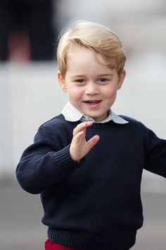 Prince William, Duke of Cambridge and Prince George of Cambridge depart Victoria by sea plane on October 1, 2016 in Victoria, Canada.