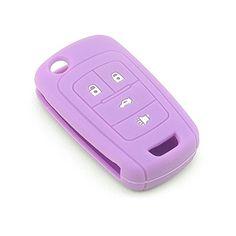 iSaddle Silicone Protecting Vehicle Remote Start Key Case Cover Fob Holder for Chevrolet Camaro Cruze Equinox Malibu Orlando Sonic (Purple Color) Car Interior Decor, Car Interior Accessories, Accessories Online, Chevy Cruze Accessories, Atv Car, Car Seat Organizer, Camaro Car, Car Key Fob, Car Gadgets