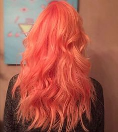 Red Wigs Lace Frontal Ariel Red Hair Wig Natural Red Human Hair Wigs R – ctepress Peach Hair, Pink Hair, Pastel Orange Hair, Ombre Hair, Hair Color And Cut, Cool Hair Color, Pretty Hairstyles, Wig Hairstyles, Unnatural Hair Color