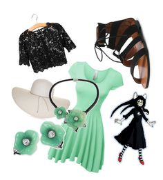 """""""Jade Harley"""" by mikailaclonts on Polyvore featuring LE3NO, Nine West and Kenneth Jay Lane"""