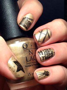 Nail Art for Nubs: Oscar Nails - Punkys Polish