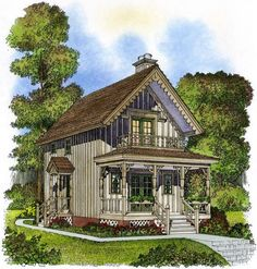 Cottage with Porches on Both Level - 43042PF | Cottage, Vacation, 2nd Floor Master Suite, PDF | Architectural Designs
