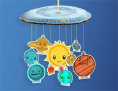 Make the Bubble Guppies Solar System Mobile to teach your little one about the plants, and recycle! #NickJr