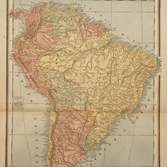 1888 Map Of South America | Old School Maps