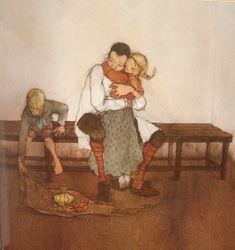 Lisbeth Zwerger illustration from 'Hansel und Gretel' by The Brothers Grimm, Published by Neugebauer Press, Salzburg and Munich. John Kenn, Hansel Y Gretel, Lisbeth Zwerger, Kunst Online, Fairytale Art, Art Academy, Illustrations And Posters, Children's Book Illustration, Beautiful Artwork
