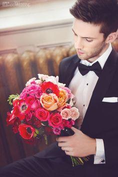 Pink Ombre Wedding Bouquet, Pink Bridal Bouquet, Wedding Flowers www.elegantwedding.ca