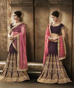 Explore Nakkashi Hit Quality Designer Lehengas Catalog for Sale Online at http://goo.gl/6wLbTf