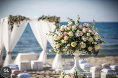 A suggestive slice of a wedding ceremony on the beach, Sardinia by Sara Events