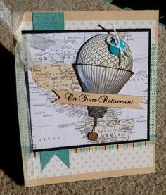 Retirement Masculine Handmade 3D Greeting Card by hugsfromtheheart, $3.75
