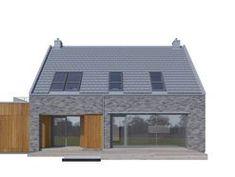 DOM.PL™ - Projekt domu DZW ATRAKCYJNY 2 CE - DOM DW1-14 - gotowy koszt budowy Dom, Outdoor Structures, Architecture, Architecture Illustrations
