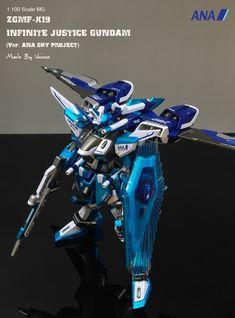 MG 1/100 ZGMF-X19A Infinite Justice Gundam Ver. ANA Sky Project Titanium Finish: (New Work) Modeled by 비셔스 (vicious1999)
