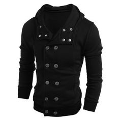 SHARE & Get it FREE   Side Pocket Long Sleeve Double Breasted HoodieFor Fashion Lovers only:80,000+ Items·FREE SHIPPING Join Dresslily: Get YOUR $50 NOW!