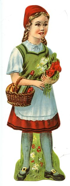 Little Red Riding Hood Switzerland * The International Paper Doll Society by Arielle Gabriel for all paper doll and paper toy lovers. Mattel, DIsney, Betsy McCall, etc. Join me at ArtrA, #QuanYin5 Linked In QuanYin5 YouTube QuanYin5!