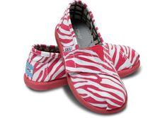 Berry Zebra Tiny & Youth TOMS Vegan Classics