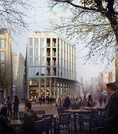 Drie plannen voor hoek Grote Markt Groningen - architectenweb.nl