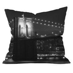 DENY Designs Leonidas Oxby Brooklyn Bridge 125 Outdoor Throw Pillow - 13042-OTHRP