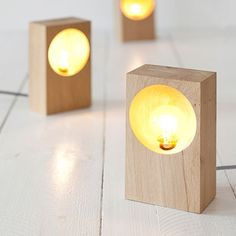 Hollow Lamp by MÚIN studio | MONOQI #bestofdesign Switch on textile cable and oak wood