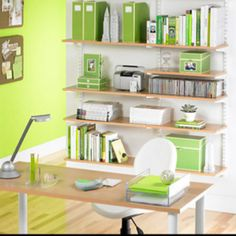 Lime green office