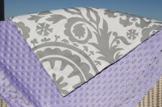 Gray Suzani with Minky Blanket by DesignsbyChristyS on Etsy, $40.00