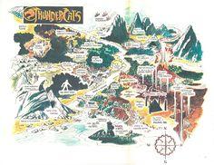 Original Thundercats map, by show developer Leonard Starr