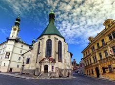 Church Of St. Catherine, Banska Stiavnica, Slovakia by Elenarts - Elena Duvernay photo Famous Places, Notre Dame, Travel Photos, Fine Art America, Beautiful, Travel Pictures, Travel Photography