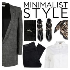 """Chic Minimalist Style"" by italist ❤ liked on Polyvore featuring Guglielminotti, Yves Saint Laurent, Paige Denim and Fendi"
