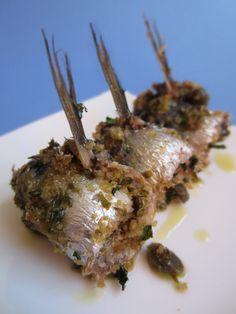Sarde a beccafico, typical Sicilian food