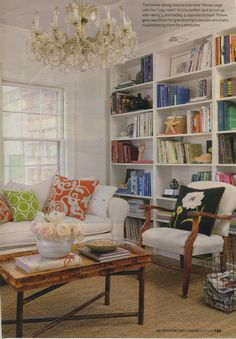 built in bookshelves. always.
