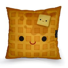 Decorative Deluxe Kawaii Toy Pillow Yummy Waffle by mymimi on Etsy, $28.00