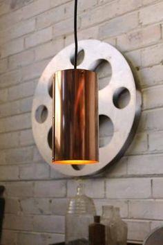 Metallic Pendant Light with LED filament bulb
