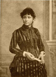 """Lucy Parsons, 1903 -- the Chicago Police Department said she was """"more dangerous than a thousand rioters"""" Born in Texas around 1853, it is likely that she and her parents were slaves. To disguise her racial origins in a ejudiced society, Lucy went under many surnames. Around 1870 she married Albert Parsons, a Confederate soldier turned radical Republican. Forced to flee Texas because of their mixed marriage, they settled in Chicago in 1873 and became heavily involved in the revolutionary elements of the labor movement.  Read more at the link!"""