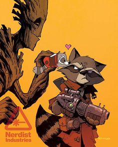 @nerdist just released a sneak peak of my #tsumtsum variant cover for #rocketraccoonandgroot issue 8. The book should be on comic shop shelves soon! #marvel #comicart