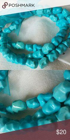 Chinese Turquoise Stretch Bracelets set of three. Turquoise Stretch Bracelets Jewelry Bracelets