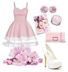 """""""Pink♡D"""" by ahumadarosy on Polyvore featuring Michael Antonio, Swarovski and Roger Vivier"""
