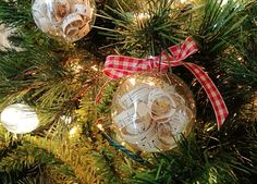 A book page Christmas tree ornament you can make with your kids!